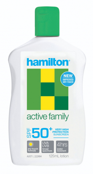 Key Pharmaceuticals HAMILSUN SUNSCREEN ACTIVE FAMILY SPF50+ LOTION 125mL